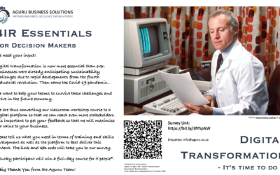 Advert: Survey on 4IR / Digital Transformation Essentials for Decision Makers Course